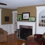 Brick fireplace with new molding
