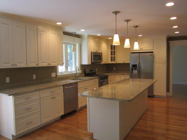 Large light colored kitchen