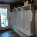 Mudroom Custom built coat hanger side view