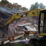 demolition of Cedar Street