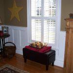 Window with custom shutters
