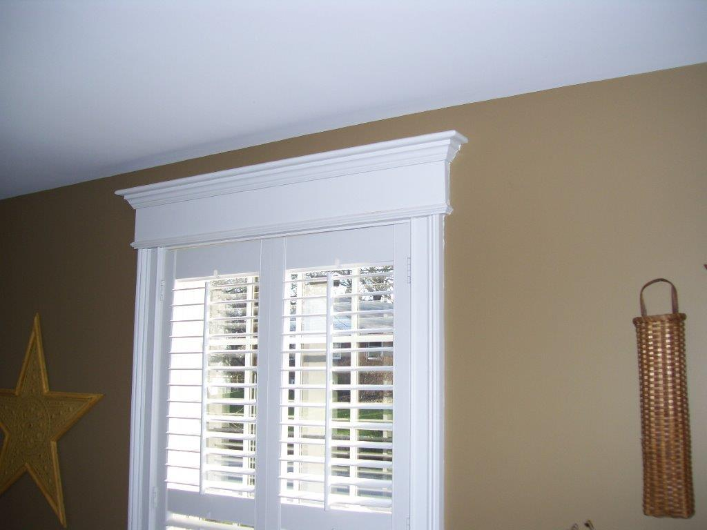 Customer shutter and crown molding