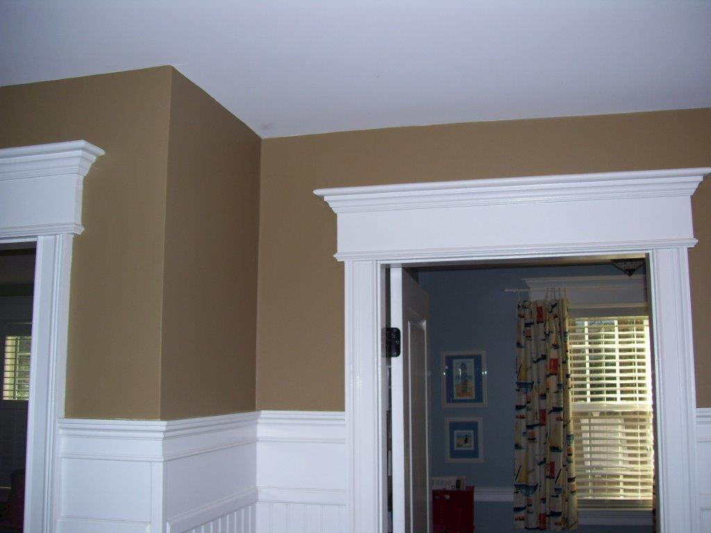 Crown molding over doorway