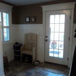 Mudroom view of door